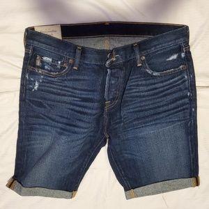 Abercrombie & Fitch Men's Jean Shorts - Size 34